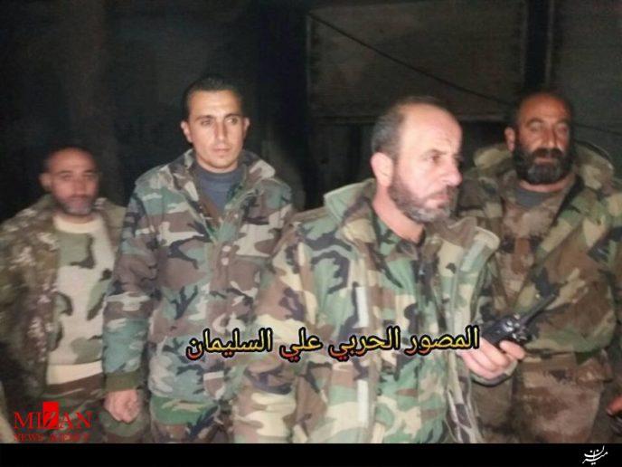 نیروهای ارتش سوریه انبار عظیم تجهیزات نظامی تروریستها در حلب را کشف کردند+تصاویر