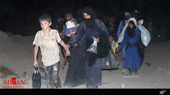 تروریستها مانع خروج غیرنظامیان از حلب میشوند