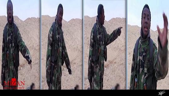 اعلان بیانیه داعش در کنار جسد سربریده + فیلم (16+)
