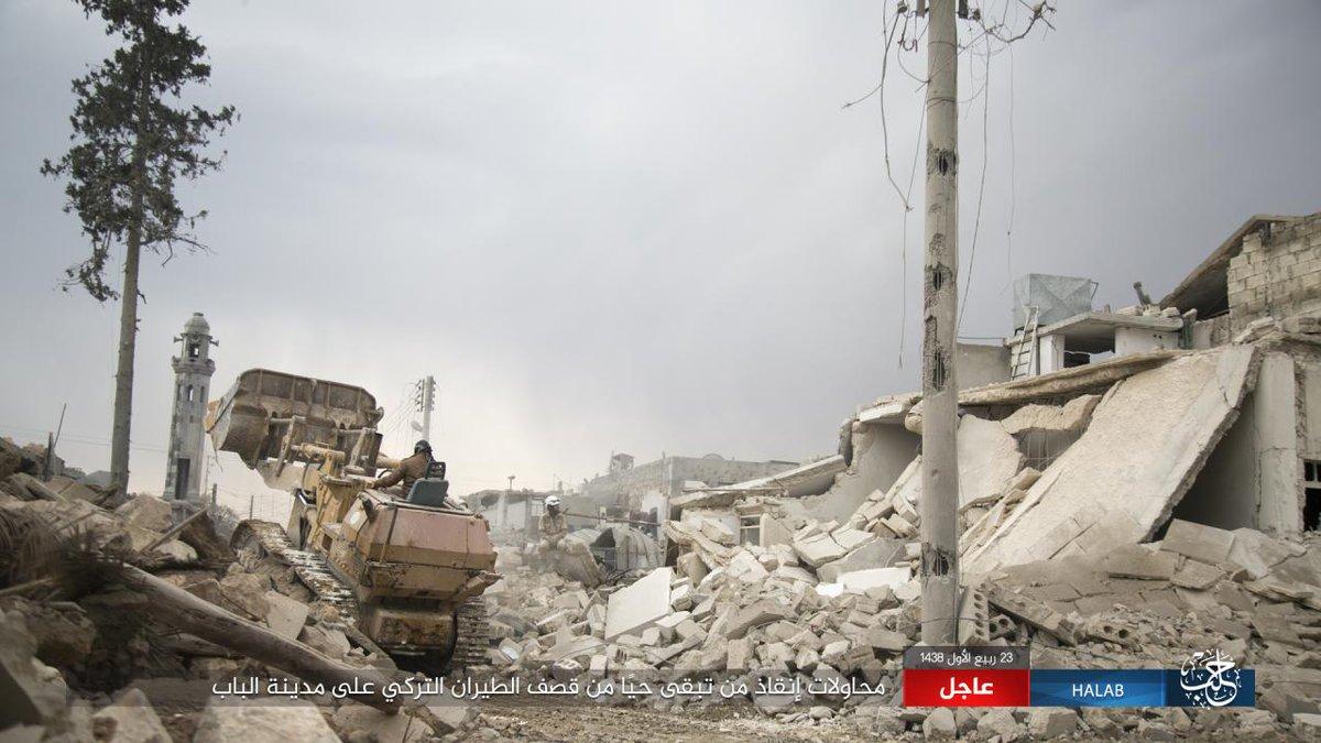 جنگنده های ترکیه شهر الباب را در هم کوبیدند +تصاویر