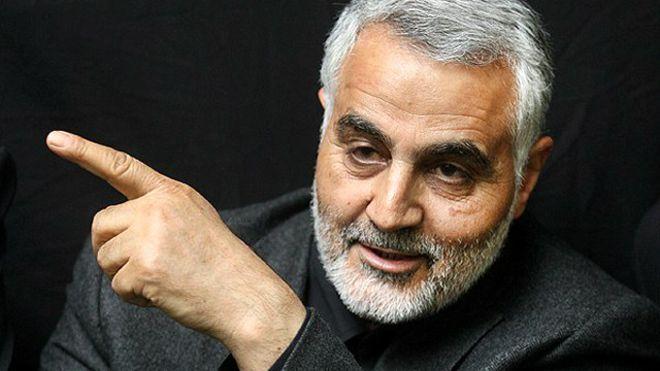 جلسه قاسم سلیمانی با مقامات سوری در ساختمان سفارت ایران در دمشق