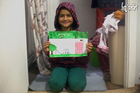 رویای کودکان پناهنده در نقاشی هایشان
