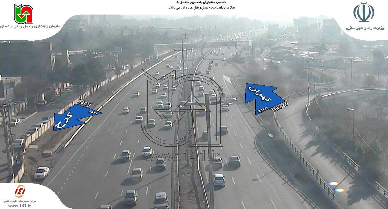 ترافیک نیمه سنیگ در آزاد راه کرج- تهران پل کلاک+ تصاویر