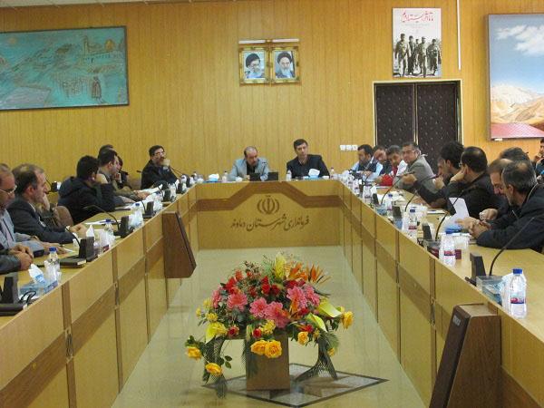 جلسه مدیریت بحران شهرستان دماوند