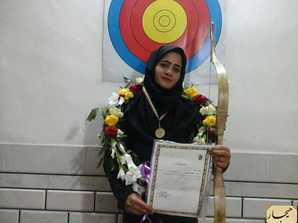 فاطمه موسوی،مسابقات تیراندازی با کمان سنتی ،قهرمان کشور،بانوی الیگودرزی،عکس،تصویر