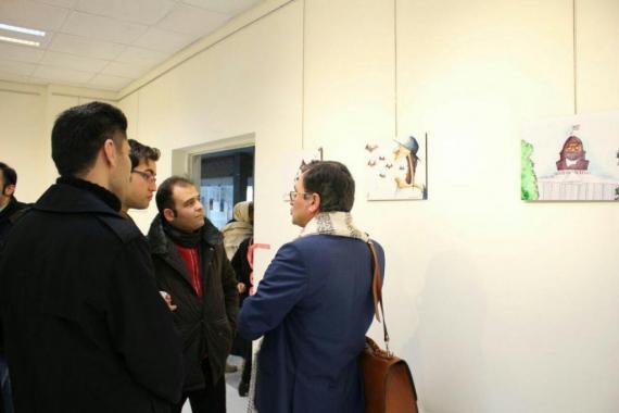نمایشگاه کاریکاتور سهراب خیری با موضوع داعش