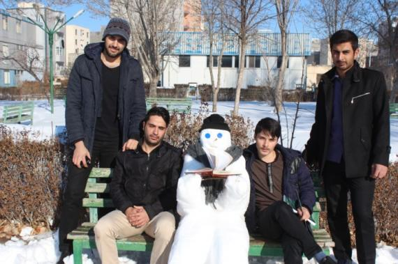 مسابقه ساخت اشکال برفی در دانشگاه فرهنگیان اردبیل