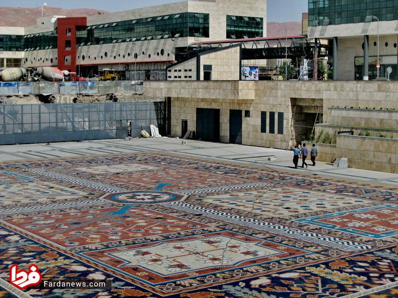 تصاویر: بزرگترین فرش موزاییکی جهان در تبریز
