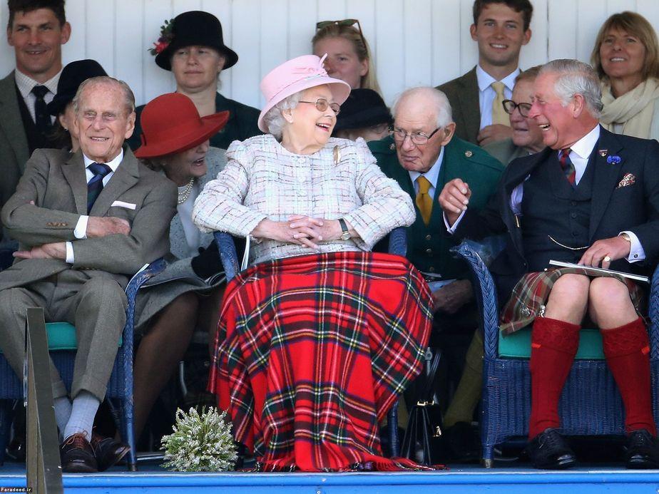 اعضای خانواده سلطنتی انگلیس در مراسم سنتی در اسکاتلند