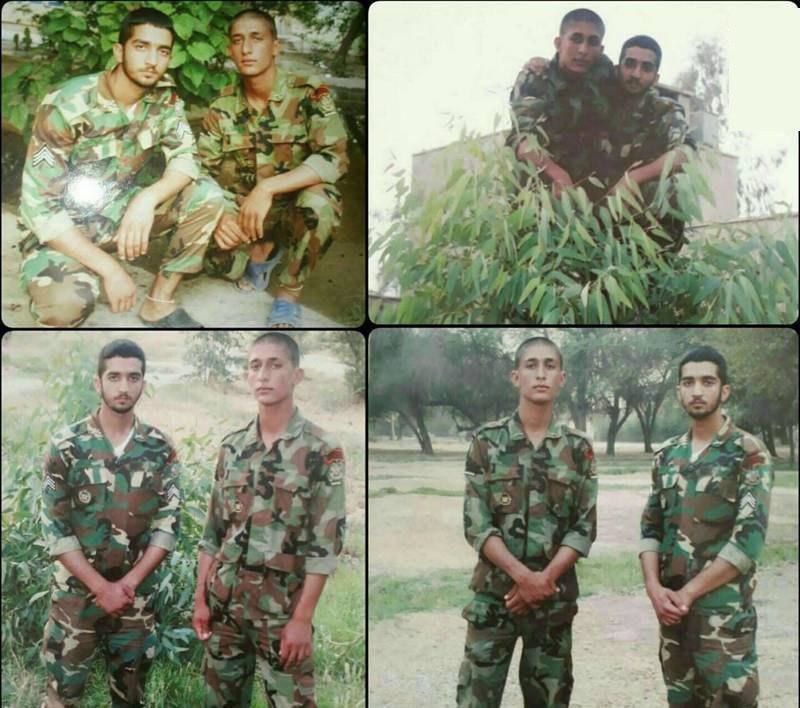 تصاویر کمتر دیده شده از دوران سربازی شهید حججی