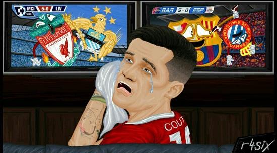 کاریکاتور: کوتینیو و حسرت بازی در بارسلونا