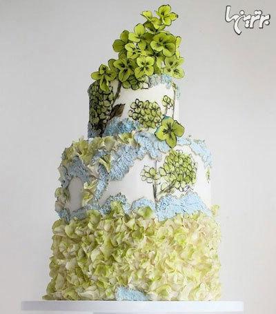 کیک های گلدار مخصوص عروسی