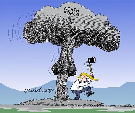 کاریکاتور: ژست جدید ترامپ و اون!