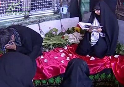 عکس/ همسر شهید حججی و مزار همسرش