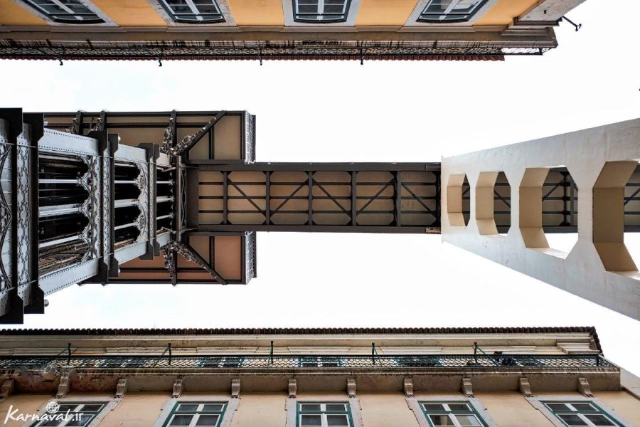 آسانسور سانتا زوستا از نمای زیرین