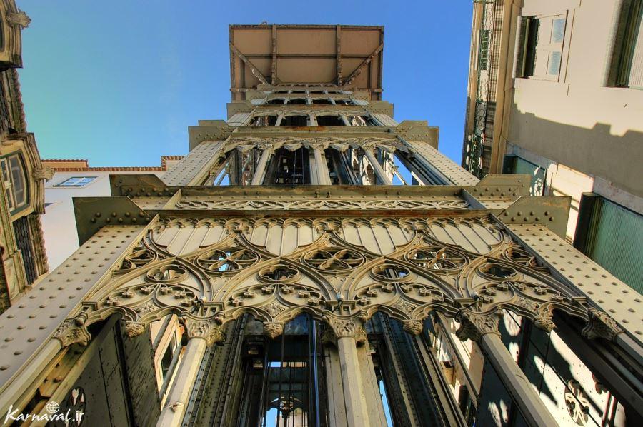 آسانسور سانتا ژوستا از نمای نزدیک