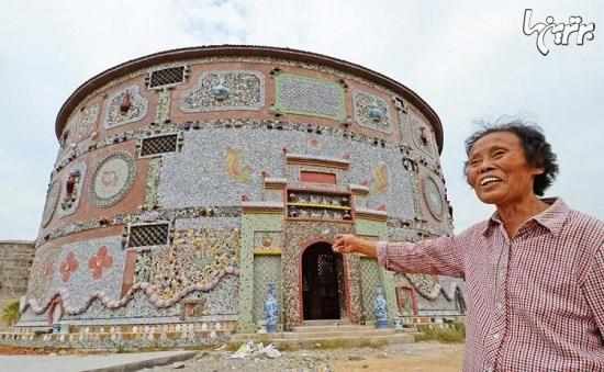 زن چینی که یک کاخ سرامیکی شخصی برای خود ساخت