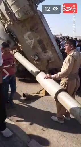 واژگونی تانک پیشمرگه/ اعلام الحربی