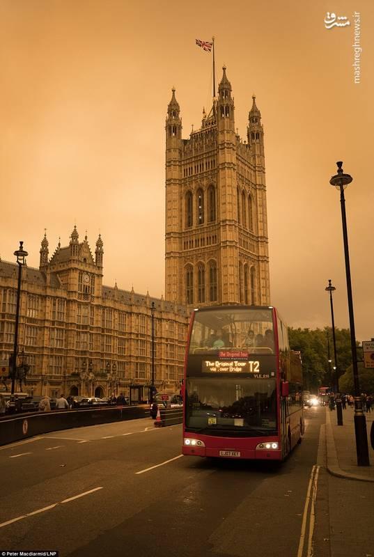 هجوم ریزگردها به لندن