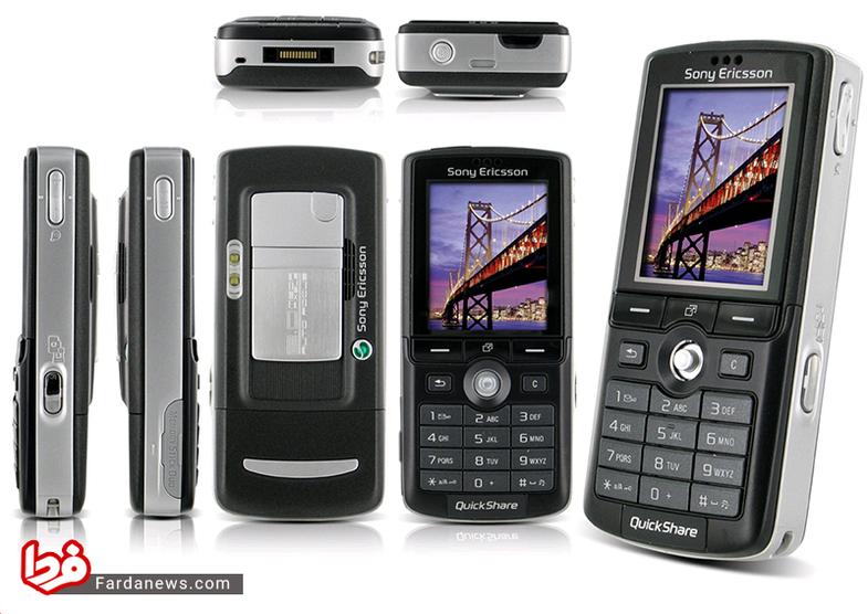 سونی اریکسون K750 - این گوشی که در سال 2005 به بازار عرضه شد از جوی استیک مشهور سونی برای ورود به منوها بهره میگرفت.