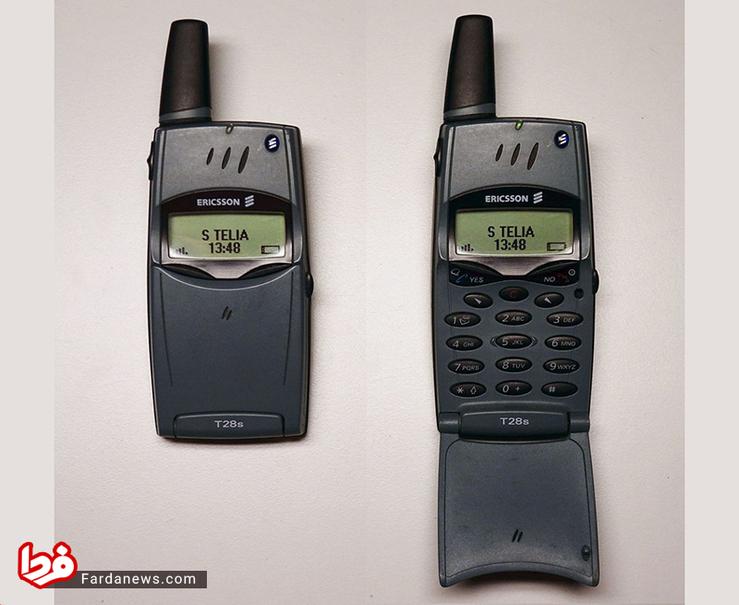 اریکسون T28 - این تلفن همراه که در سال 1999 عرضه شد باریک ترین گوشی زمان خودش بود و تنها 83 گرم وزن داشت.