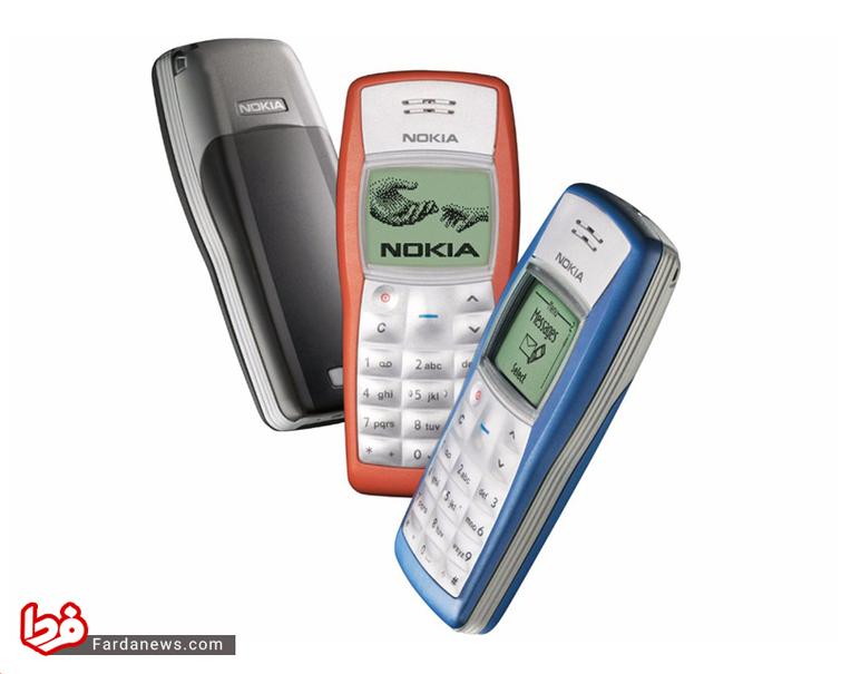 نوکیا 1100 - این گوشی در پاییز 2003 عرضه شد و تا کنون بیش از ۲۵۰ میلیون نسخه از آن  به فروش رفته است. این گوشی پرفروشترین گوشی جهان است و تا مدتی پرفروشترین وسیلۀ الکترونیکی نیز بود.