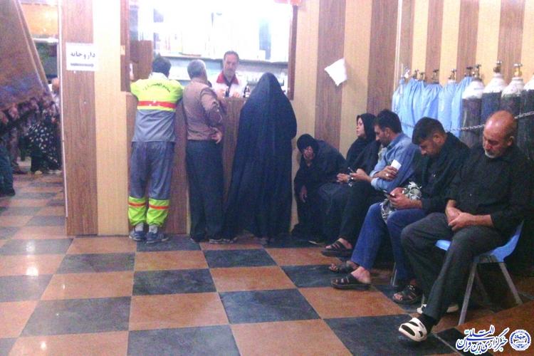ارائه خدمات معالجهی از جنس مالی و رایگان از طریق هلال احمر ایران در کربلا/در وضع تکمیل