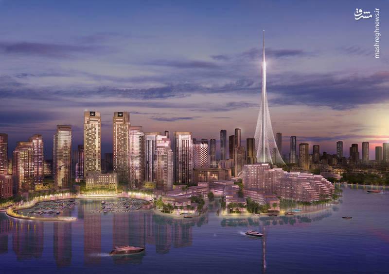 طرح گرافیگی برج (Dubai Creek)