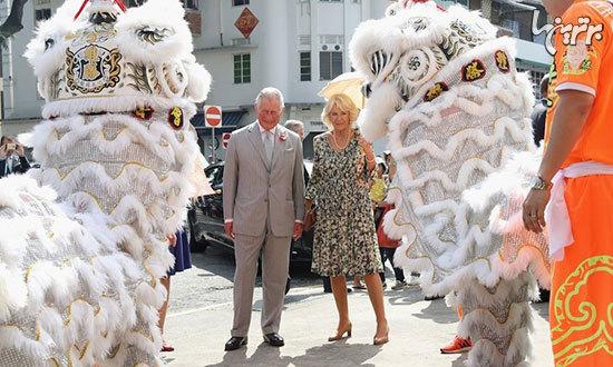 عکس: شاهزاده چارلز و کاملیا در سفر به آسیا