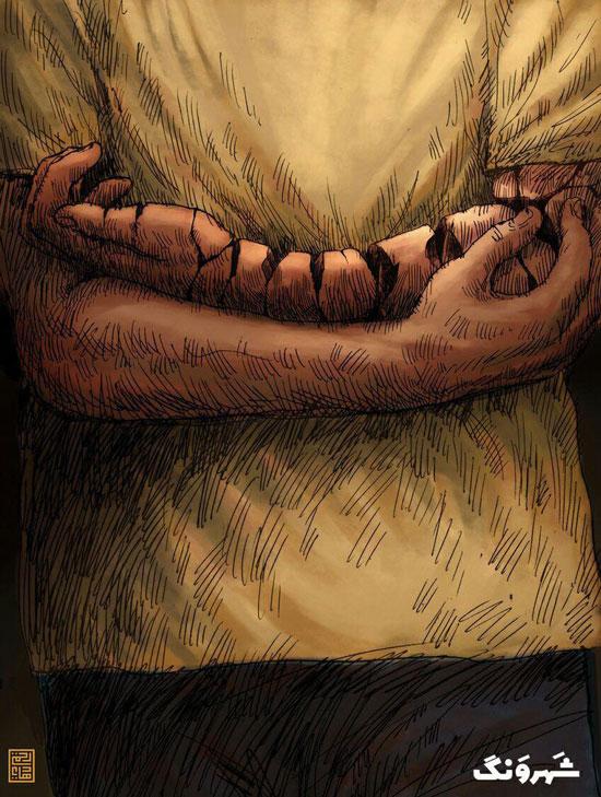 شعر معروف سعدی سوژه یک کاریکاتور شد