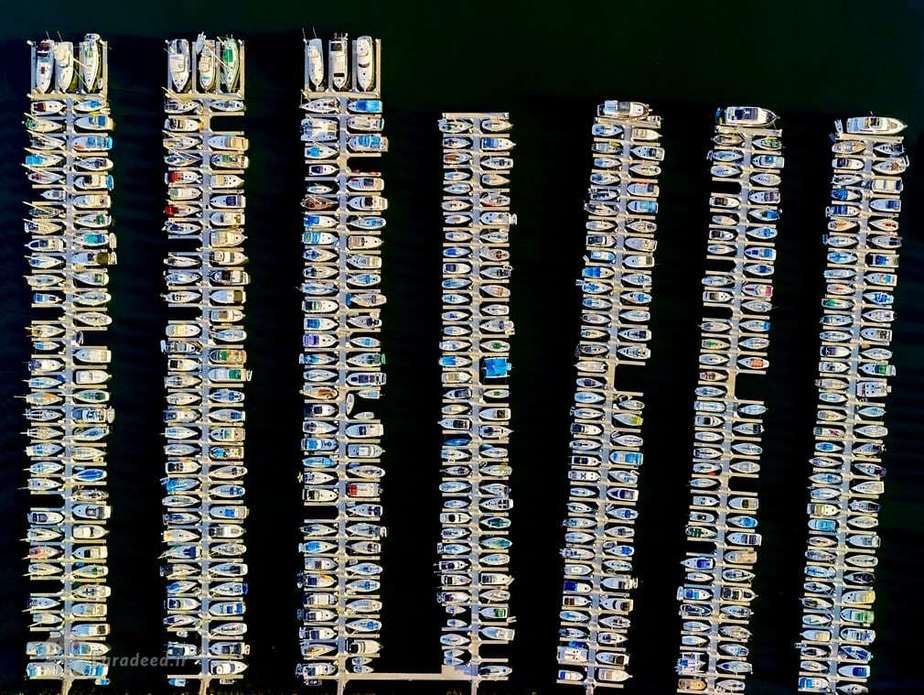 خط ساحلی مارینا که در سال هزار و نهصد و هشتاد و سه برای برپایی مسابقات قایقرانی المپیک در لس آجلس رونمایی گردید