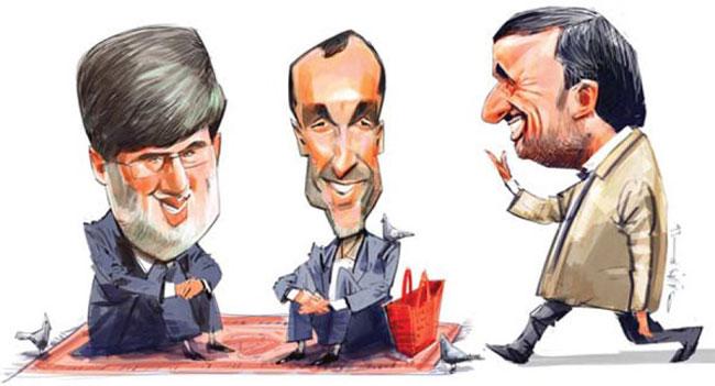 کاریکاتور: احمدی نژاد و رفقا در شهر ری!