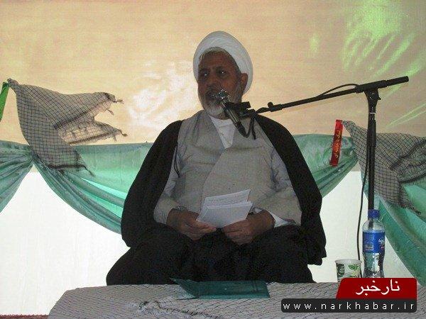 حجت الاسلام طبیبی فر فرمانده تیپ در ساوه