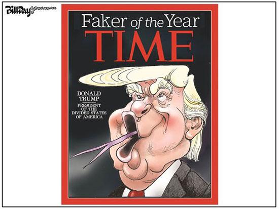 کاریکاتور: دروغگوی سال انتخاب شد!