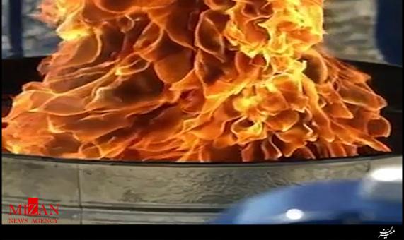 تست گردباد آتشی + فیلم
