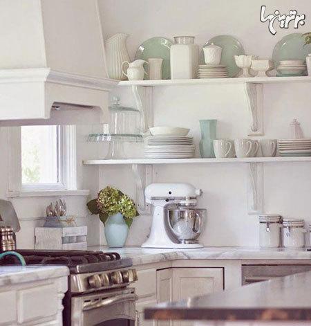 مزیت های استفاده از قفسه های بدون درب در آشپزخانه