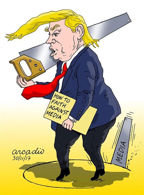 کاریکاتور: توئیت های دردسرساز ریاست جمهور!