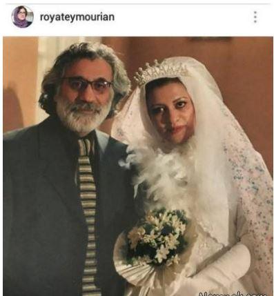 عکس جذاب « رویا تیموریان» با لباس عروس!