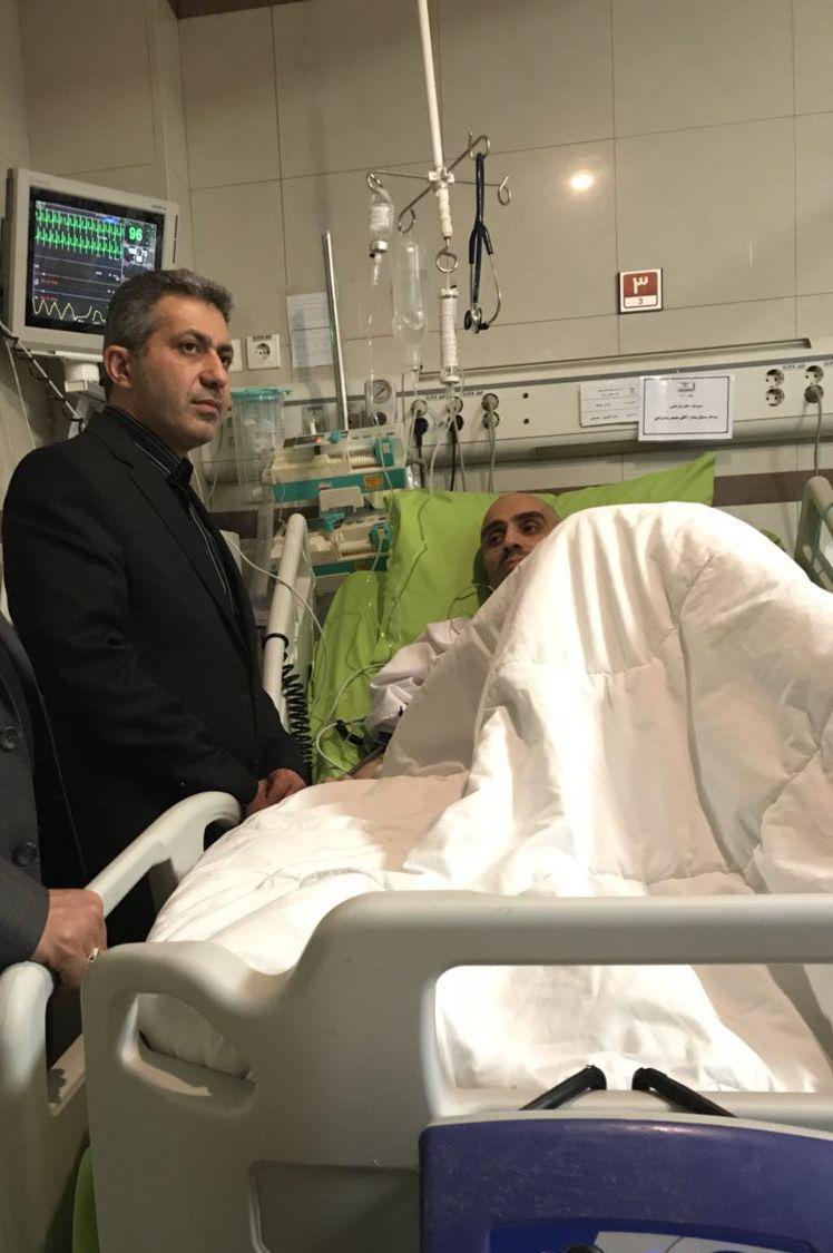مدیر عامل سابق خبرگزاری مهر در بستر بیماری/عیادت مدیران از رضا مقدسی