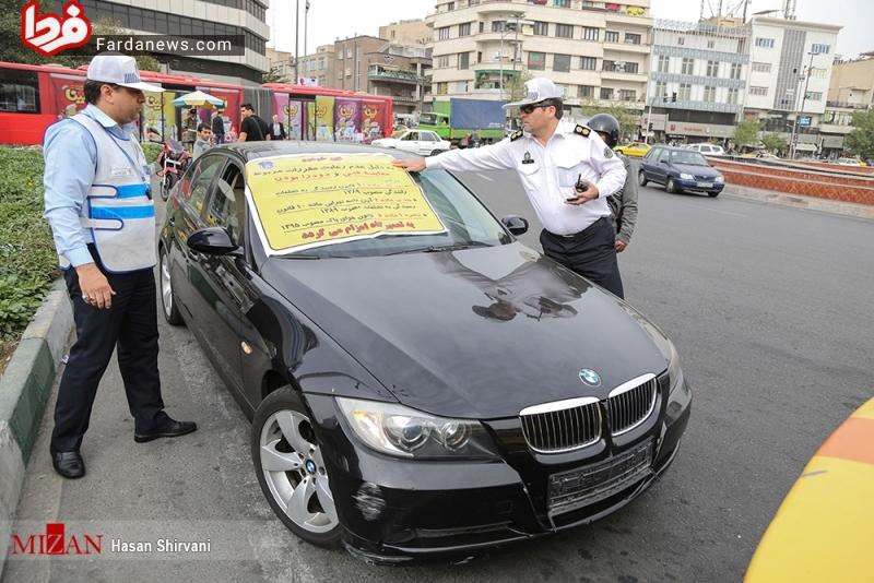 عکس: سبب جذاب توقیف ماشینی لاکچری