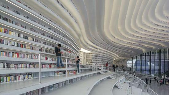 کتابخانه تازه و فوق العاده زیبا در چین که به نحو چشم آدم ساخته شده است