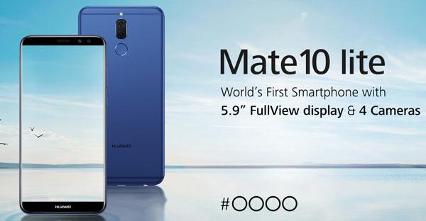 HUAWEI Mate ۱۰ lite، اولین گوشی هوشمند با چهار دوربین