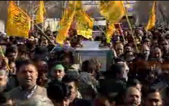فیلم/ تشییع پیکر دو شهید لشکر فاطمیون در تهران