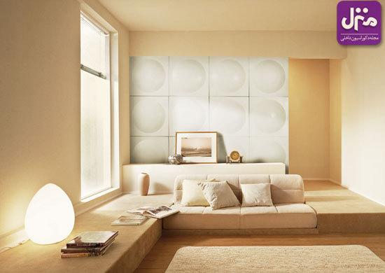 کاربرد پنلهای سهبعدی بر دیوار خانه