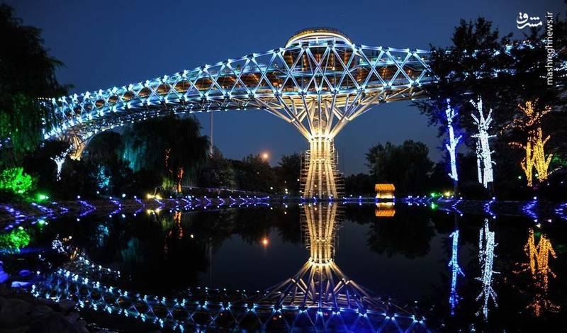 نمای زیبایی از پل طبیعت تهران +تصویر