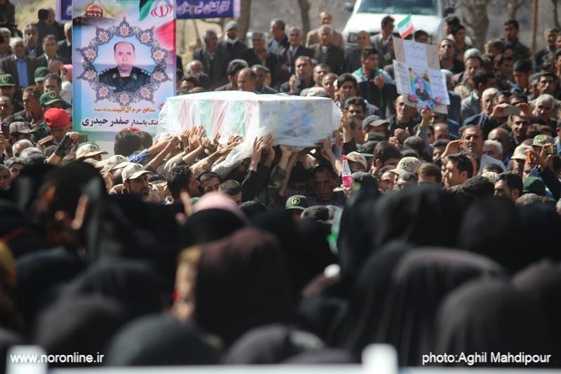 تدفین شهید مدافع حرم صفدر حیدری