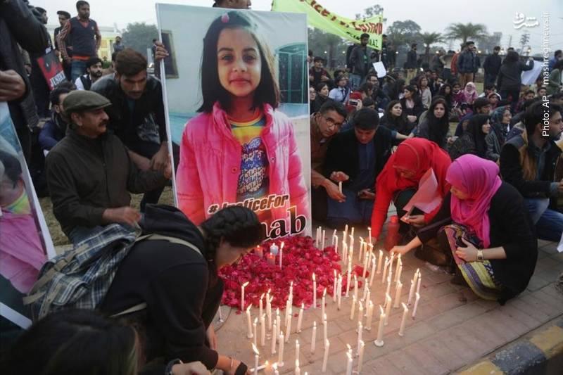 عصبانیت و تأثر افکار عمومی بویژه در پاکستان بر اثر کشتن یک دختر 7 ساله و تعرض به او در لاهور