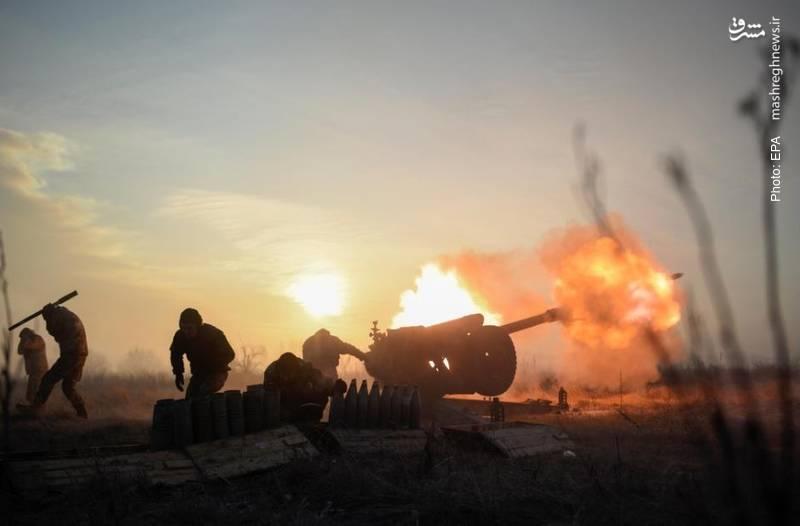 درگیری ارتش اوکراین با جدایی طلبان دونتسک