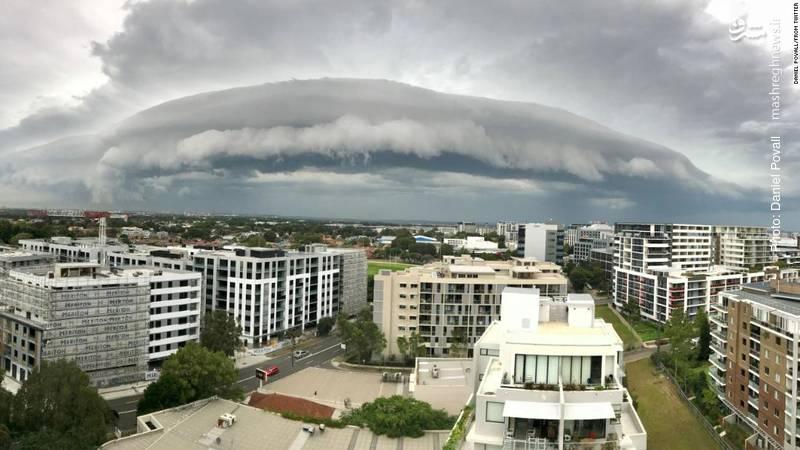 یک سیستم بارشی بالای سیدنی