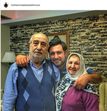زندگی عاشقانه «محمد علیزاده» در کنار پدر و مادرش | عکس
